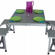 Quest Gloucester Table & Chair Set Aluminium